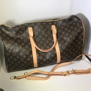 Brown Louis Vuitton Monogram Luggage Bag
